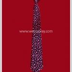เนคไทสำเร็จรูป ลายดาวสีชมพู รุ่นยาว 50 ซม.