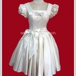 เดรสโกธิคโลลิต้า ปาร์ตี้อลิซาเบธ สีเบจ Beige Party Elizabeth Gothic Lolita Dress