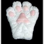 ถุงมือแมวเหมียว สีขาว ขนาดใหญ่ White Kitty Glove