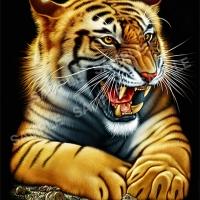 ลายฮาฟโทนแนวเสือ