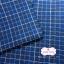 ผ้าทอญี่ปุ่น 1/4เมตร พื้นสีน้ำเงิน ลายตาราง thumbnail 1
