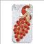 เคสไอโฟน 6 Plus / 6s Plus (Hard Case ) กรอบใส ประดับเพชรและนกยูงสีแดง thumbnail 1