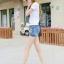 กางเกงยีนส์ขาสั้น แฟชั่นสวยๆ แต่งขอบเอวไม่เหมือนใคร เหมือนใส่เข็มขัดเก๋ๆ ในตัว thumbnail 10