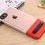 (Sale) เคสไอโฟนรุ่นป้องกันกล้อง+กันกระแทก+ขาตั้งพับได้ (Upper TPU ใส +Lower PC เขียว) IPhone 7 thumbnail 17