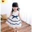 เดรสแฟชั่นสำหรับสาวน้อยไวใส สีขาวบริสุทธิ์ตัดกับแถบโบว์สีน้ำเงิน น่ารักสมวัยจริงๆ thumbnail 17