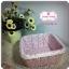 ตะกร้าผ้า สีชมพูม่วงลายดอกไม้ thumbnail 1