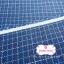ผ้าทอญี่ปุ่น 1/4เมตร พื้นสัน้ำเงิน ลายตาราง thumbnail 2