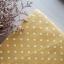 ผ้าคอตตอนลินิน 1/4ม.(50x55ซม.) พื้นสีเหลืองมัสตาร์ด ลายจุดสีขาว thumbnail 3