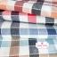 ผ้าคอตตอนลินิน 1/4ม.(50x55ซม.) ลายตาราง โทนสีแดงส้มอ่อน thumbnail 2