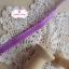 ริบบิ้นผ้าแถบ สีม่วงแต่งขอบเส้นปะสีขาว กว้าง 0.8 ซม. thumbnail 3