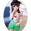 เสื้อผ้าเข้าชุดสำหรับเด็ก ตกแต่งด้วยลายธงชาติเก๋ๆ น่ารัก สดใส สไตล์แฟชั่น thumbnail 15