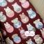 ผ้าคอตตอนไทย 100% 1/4 ม.(50x55ซม.) พื้นสีแดงกล่ำ ลายตุ๊กตาเกาหลี thumbnail 1