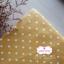 ผ้าคอตตอนลินิน 1/4ม.(50x55ซม.) พื้นสีเหลืองมัสตาร์ด ลายจุดสีขาว thumbnail 1