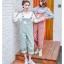 ชุดเอี๊ยมกางเกงขา 5 ส่วน สี earth tone สวยๆ แปลกตา ไม่ซ้ำใคร thumbnail 4