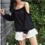 เสื้อสายเดี่ยว แขนยาว แฟชั่นเซ็กซี่นิดๆ กับเสื้อสีโทน ขาว - ดำ thumbnail 11