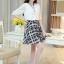 เดรสแฟชั่นเกาหลี ตัวเสื้อผ้าชีฟองสีพื้น รับกับกระโปรงลายสก็อตลายสวย thumbnail 12