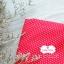 ผ้าคอตตอน 100% 1/4 ม.(50x55ซม.) พื้นสีแดง ลายจุดเล็กสีขาว thumbnail 1