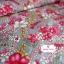 ผ้าคอตตอน 100% 1/4 ม.(50x55ซม.) ลายดอกไม้ โทนสีคลาสสิค thumbnail 3