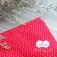 ผ้าคอตตอน 100% 1/4 ม.(50x55ซม.) พื้นสีแดง ลายจุดเล็กสีขาว thumbnail 2
