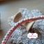ลูกไม้ตุ้มเล็ก สีชมพูโอรสสลับฟ้า แบ่งขายเปนหลา thumbnail 4