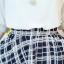 เดรสแฟชั่นเกาหลี ตัวเสื้อผ้าชีฟองสีพื้น รับกับกระโปรงลายสก็อตลายสวย thumbnail 18