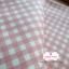 ผ้าคอตตอนลินิน 1/4ม.(50x55ซม.) พื้นสีครีม ลายตารางสีชมพูหวาน thumbnail 3