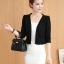 เสื้อสูท คลุมทับตัวเบาๆ ผ้ายืด นิ่มสบาย ระบายอากาศดีๆ กับสียอดนิยม ขาว-ดำ-ชมพู-มินท์ thumbnail 38