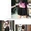 เดรสสั้นเกาหลี แขนยาว ลายดอกไม้สวยหวาน เข้ากับชุดสีพื้นได้อย่างลงตัว thumbnail 6