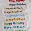 สายผ้าคาด หมอนอิงตุ๊กตา วันเกิด (Happy Birthday) สีขาว ## พร้อมส่งค่ะ ## thumbnail 3