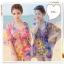 Pre Order ชุดว่ายน้ำแฟชั่นเกาหลี โดดเด่นด้วยสีสันและลวดลาย มาพร้อมเสื้อคลุมผ้าพริ้วไหวในชุด thumbnail 1