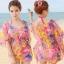 Pre Order ชุดว่ายน้ำแฟชั่นเกาหลี โดดเด่นด้วยสีสันและลวดลาย มาพร้อมเสื้อคลุมผ้าพริ้วไหวในชุด thumbnail 7