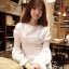 เสื้อแฟชั่นเกาหลี แขนยาว จับจีบแขนแบบตุ๊กตา cawaii ฝุดๆ thumbnail 1