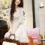 เดรสสั้นเกาหลีทรงคอวีจาก Mayuki ลายดอกไม้ เหมาะสำหรับสาวอยากหวาน thumbnail 11