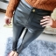 กางเกง skinny หนัง PU รัดรูปสีดำ สำหรับสาวมั่นที่กล้าโชว์เรียวขาอวดสายตาหนุ่มๆ thumbnail 8