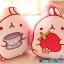 หมอนผ้าห่ม ลายกระต่าย Molang ถือแก้วชา สีครีม ## พร้อมส่งค่ะ ## thumbnail 7