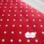 ผ้าคอตตอนลินิน 100% 1/4 เมตร พื้นสีแดงลายจุดสีขาว thumbnail 1