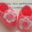 รองเท้าสีชมพูติดดอกไม้สีขาวสวยๆ ขนาด 3-6 เดือน thumbnail 1
