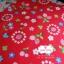 ผ้าคอตตอนไทย 100% 1/4 เมตร (50x55ซม.) พื้นสีแดง ลายสตอเบอร์รี่และดอกไม้ thumbnail 2