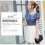 เดรสแฟชั่นเกาหลี สวยหวาน ด้วยเสื้อสียีนส์น่ารักๆ รับกับชายกระโปรงลายลูกไม้ เข้ากันได้ลงตัวสุดๆ thumbnail 3