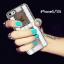 ้เคสไอโฟน 5/5s/SE เคสไอโฟนกรอบใสประดับเพชรและคริสตัลสีขาวรูปตัว H thumbnail 1