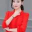 เสื้อชีฟองใหม่ สไตล์สาวเกาหลี ปกสูงแต่งด้วยลูกไม้ กับสีพื้นยอดนิยม ขาว - ดำ - แดง thumbnail 28