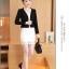 เสื้อสูท คลุมทับตัวเบาๆ ผ้ายืด นิ่มสบาย ระบายอากาศดีๆ กับสียอดนิยม ขาว-ดำ-ชมพู-มินท์ thumbnail 39