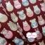 ผ้าคอตตอนไทย 100% 1/4 ม.(50x55ซม.) พื้นสีแดงกล่ำ ลายตุ๊กตาเกาหลี thumbnail 2