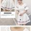 เดรสแฟชั่นเกาหลี แขนสามส่วน เอวจั๊ม ใส่ง่าย ดูสะอาดตา thumbnail 6