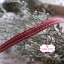 ริบบิ้นผ้าแถบ สีแดงกล่ำ กว้าง 1 ซ.ม. แบ่งขายเป็นหลา thumbnail 3
