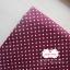 ผ้าคอตตอนลินิน 100% 1/4 เมตร พื้นสีม่วงเปลือกมังคุด ลายจุดเล็กสีขาว thumbnail 3