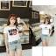 collection เสื้อยืดพื้นขาว สกรีนลายนิดๆ ดูสบายตา set 4 thumbnail 21