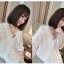 เสื้อคลุมแฟชั่นสุภาพสตรี สีขาวบริสุทธิ์ ประดับตกแต่งด้วยลูกไม้ลายเก๋ๆ สำหรับสาวน่ารักๆ โดยเฉพาะ thumbnail 6