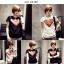 เสื้อยืดแฟชั่นสำหรับสาวๆ ผ้านิ่ม มีลายให้เลือกมากมาย และหลายขนาด SET2 thumbnail 6