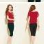 เสื้อแฟชั่นสตรีคอกลม พริ้วไหวด้วยผ้าชีฟอง เย็นสบาย ไม่อึดอัด มีให้คุณได้เลือกถึง 4 สี 7 ไซด์ thumbnail 5